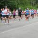Runners making their way around Mirror Lake