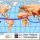 Diagram of intertropical convergence zones