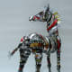 Barbara Franc's zebra made of biscuit tins