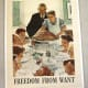 """""""Freedom From Want,"""" poster art by Norman Rockwell (1943)"""