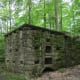 Remains of a CCC incinerator on Overlook Trail, Leonard Harrison State Park