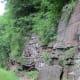 Sheer rock wall along Pine Creek Rail Trail south of Waterville, PA