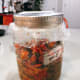 Cover it with a cling wrap. Put the lid on the jar and store it at room temperature.