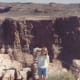 This was taken in Walnut Canyon in Arizona. Our trip had taken us through the Grand Canyon, the Painted Desert, to Mesa Verde, and then to Durango and Silverton on the railroad. We had also passed through New Mexico past Shiprock and through Gallup.
