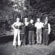 Cub Scout group, 1957 - 3rd from the left, my brother John and 5th from the left, my brother Jim.  My mother was the cub scout leader.