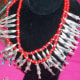 Peru was the only country sampled that had jewelry with a water theme. This silverfish necklace is made by one of 7 sisters in the old Inca style.