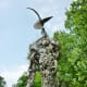 "Closeup of ""Constant Gardener"" sculpture by Mark Bradford in True South sculpture exhibit Houston"