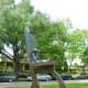 """Retired Cowboy Clown"" sculpture by Hans Molzberger in True South sculpture exhibit Houston"