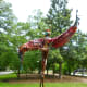 """Back of """"Marcella"""" sculpture by Sharon Kopriva in True South sculpture exhibit Houston"""