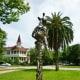 """Constant Gardener"" sculpture by Mark Bradford in True South sculpture exhibit Houston"