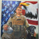Painting of Colton W. Rusk with his dog Eli by Ken Pridgeon, Sr. – USMC – Operation Enduring Freedom – from Orange Grove, TX – KIA 12-06-10