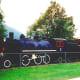 Historic locomotive in Squamish on display