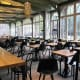 Large dining area at De Plantage.