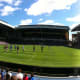 A panoramic view of Ibrox, home of Rangers taken in 2011.