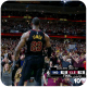 Lebron James celebrating with the crowd after making a buzzer beater.