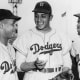 Catcher Roy Campanella, Pitcher Don Newcombe, and Jackie Robinson.