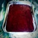 The shredded or pureed beets used in the batter make it intensely and deeply red, like garnets.