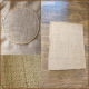 For your canvas, you can use monk's cloth. In my case, burlap is my material of choice.