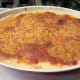 Cheesy scalloped potatoes out of the oven, and ready to enjoy!