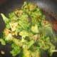 Stir-fry broccoli to fork tender.