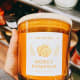 This is a honey-pumpkin scented candle.