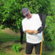 My dad, a Frugal Engineer, displays his apple picker made out of a leg of jogging pants that had a hole in them.  And he is wearing the pants as cut-offs.