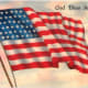 Free vintage post cards for Memorial Day: Waving American flag