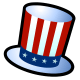 July 4th clip art: Uncle Sam hat