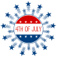 4th of July clipart: blue stars and circle