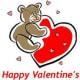 Sample whimsical kids valentine card