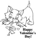 Sample coloring kids Valentine's Day card