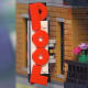 "LEGO Creator Detective's Office Modular Building | A brick built lettering which says ""pool""."