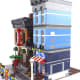 LEGO Creator Detective's Office Modular Building | You've got a lot of plane bricks and brick structured ones, which creates a great effect.