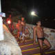 Acapulco Cliff Divers arriving for a night dive