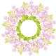 Purple flower wreath free flower clip art (small)