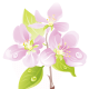 Pretty flowers and leaves free flower clipart