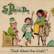 "Vintage children: three kids celebrating St. Patrick's Day ""God bless the Irish"""