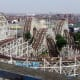 The Grand National is a wooden racing coaster at Pleasure Beach, Blackpool. It is one of only three surviving Moebius Loop roller coasters in the world, and the only one in Europe and Eurasia.