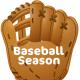 "Free baseball clip art: baseball glove with ""Baseball Season"" text"