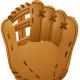 Free baseball clip art: plain baseball glove for a right-handed player
