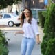 Eva Longoria in faded denim