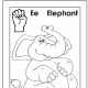 Sign Language Alphabet Free Coloring Pages - Apple to Ice - Letter E