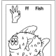 Sign Language Alphabet Free Coloring Pages - Apple to Ice - Letter F