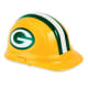 hard hat with Green Bay Packers logo in classic green and gold - sports themed gifts
