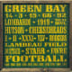 Hand Made Football Fan gift idea - Green Bay Packer wood poster painting in fun green and gold