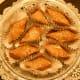 Baklava on serving platter