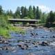 looking upstream toward the bridge