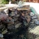 Pond extended with rocks and waterfall included