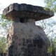 Nang Usas Look-Out Tower. This represents a glacially deposited boulder in N.E Thailand long ago carved into a rock home by a monk