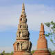 The Garden of Sacred Stupa. This garden in Muang Boran houses a variety of stupa models representing  different architectural styles and different periods of Thai history